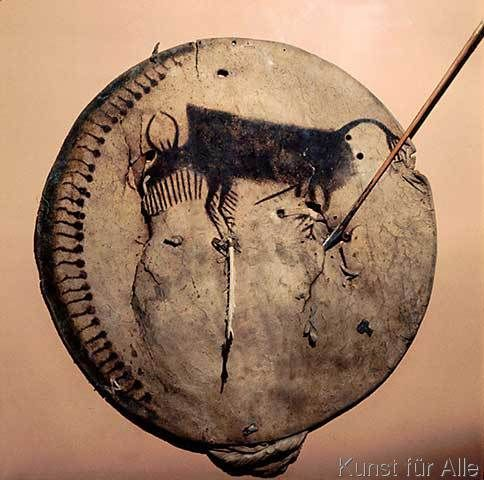 Indianisch+-+Schild+der+Crow-Indianer+/Foto