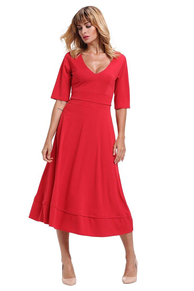 les 25 meilleures id es de la cat gorie robe rouge pas cher sur pinterest robes rouges courtes. Black Bedroom Furniture Sets. Home Design Ideas