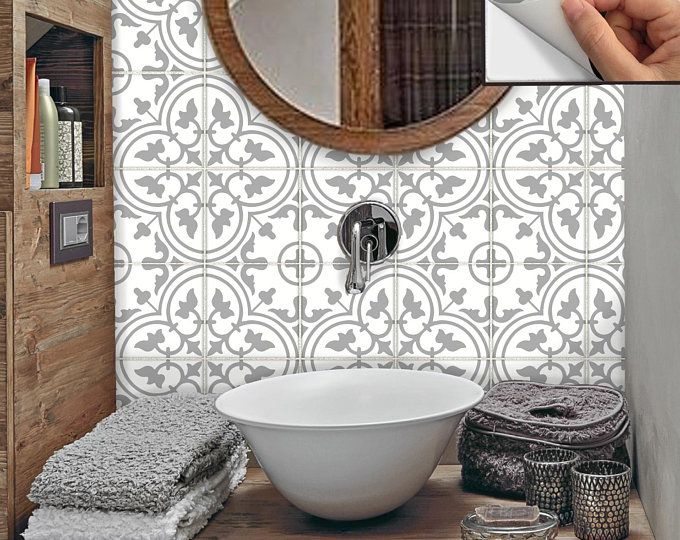 Tile Stickers Vinyl Decal Waterproof Removable For Kitchen Bath Wal Floor Or Stair Mexican Mix Decals Tr002 In 2020 Tile Stickers Kitchen Wall Waterproofing Bathroom Trends