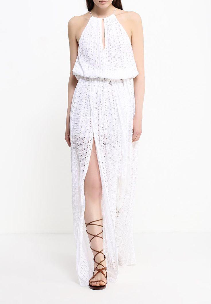 Платье-макси с американской проймой от Pinko выполнено и полупрозрачного вискозного текстиля с вышивкой и сквозной перфорацией... Купить http://fas.st/osZ7b