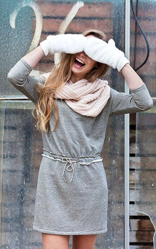 Gouden sweaterstof voor Rianne Jurk