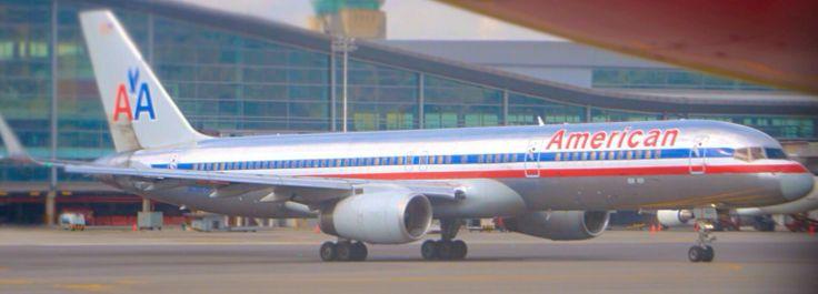 American Airlines B757 at Bogota Airport