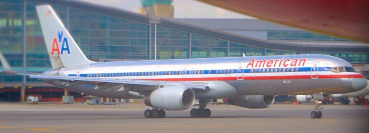 American Airlines B757 at Bogota Airport