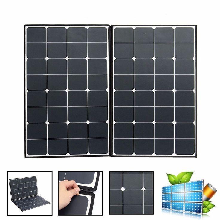 Elfeland SP-22 160W Folding Portable Solar Panel With A Connector To Two MC4 #solarpanel #portablesolar