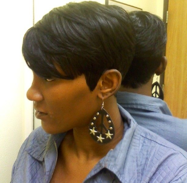 Pictures Of Short Black Hairstyles Fair 27 Best Short Cuts Images On Pinterest  Short Films Shortish