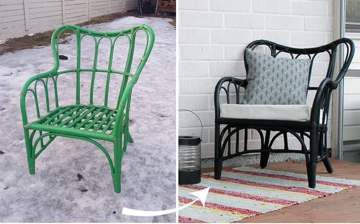 Easy diy rattan chair makeover