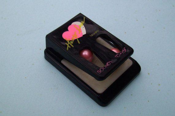 Soundy Paper Clip. Hearty Love. Black Paper Clip. by JirjiMirji, €5.90