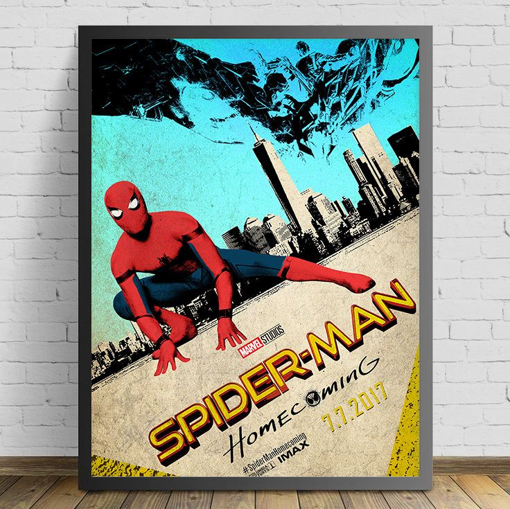 Spider-Man Homecoming Vintage Poster by MelbourneComicArt on Etsy https://www.etsy.com/au/listing/550083095/spider-man-homecoming-vintage-poster