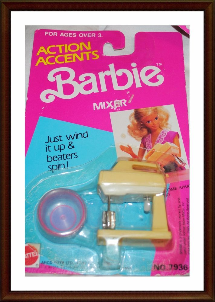 Vintage Barbie Accessories - Action Accents - Barbie Mixer - 1980, 90's |  Dolls & Bears, Dolls, Barbie Contemporary (1973-Now) | eBay!