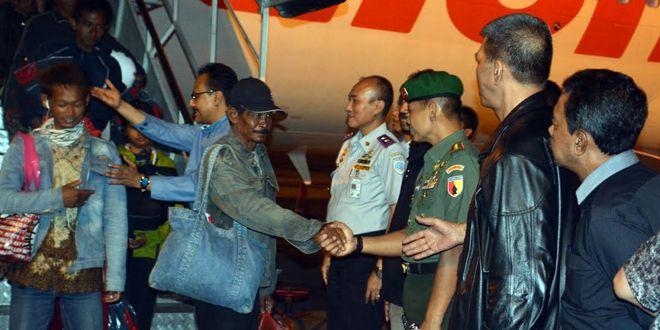 Korem 084/BJ bersama Polrestabes Surabaya Kawal kedatangan Exs Gafatar
