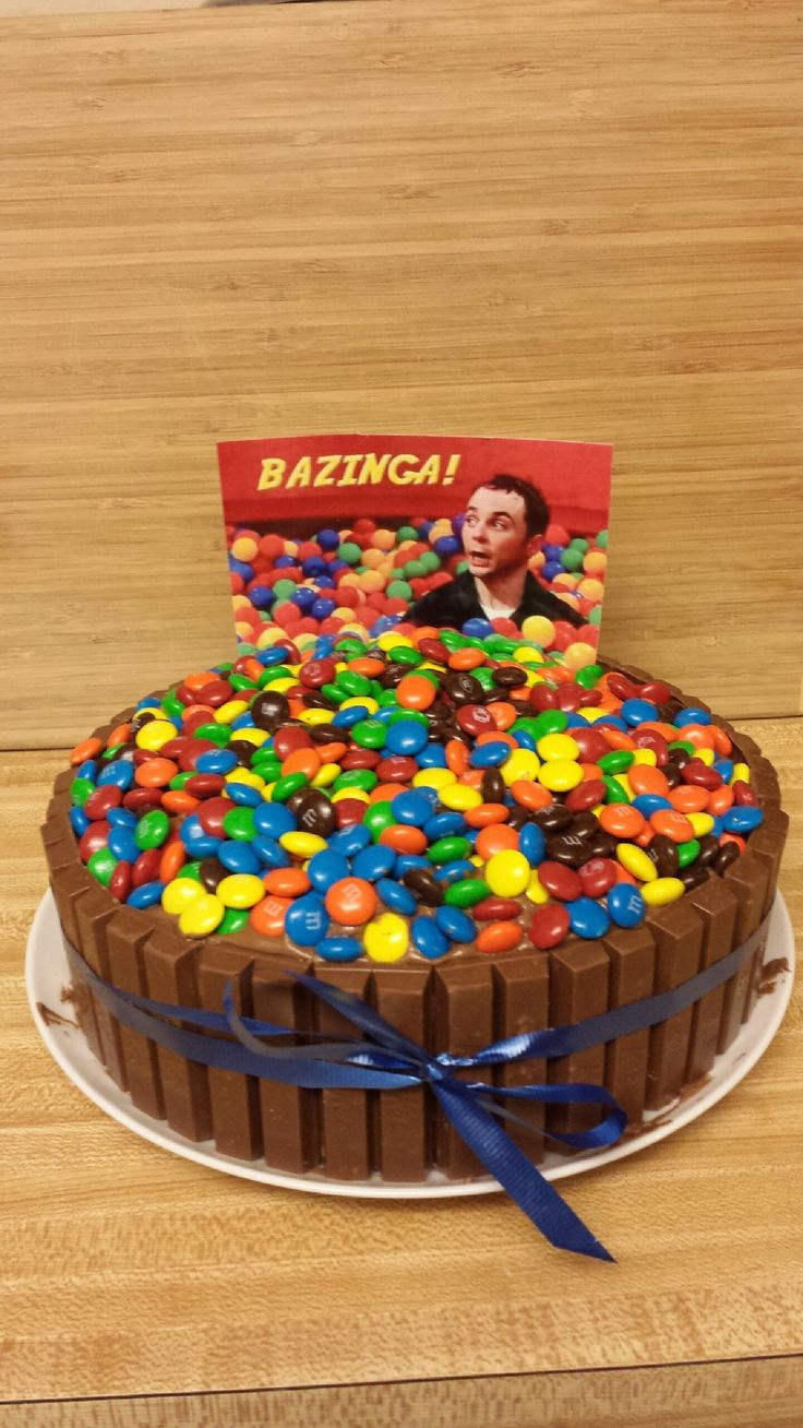 Bazinga cake for my husband s birthday Food Pinterest ...