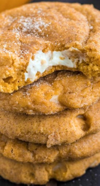 Pumpkin Cheesecake Snickerdoodles: I am DROOLING! I can't wait until I get my oven fixed so I can make these !!