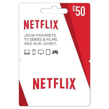 Netflix Gift Card 50 euro NL  Netflix Gift Card van 50 euro is absoluut een zeer origineel cadeau waar je elke film- en serie liefhebber blij mee maakt.  EUR 50.00  Meer informatie