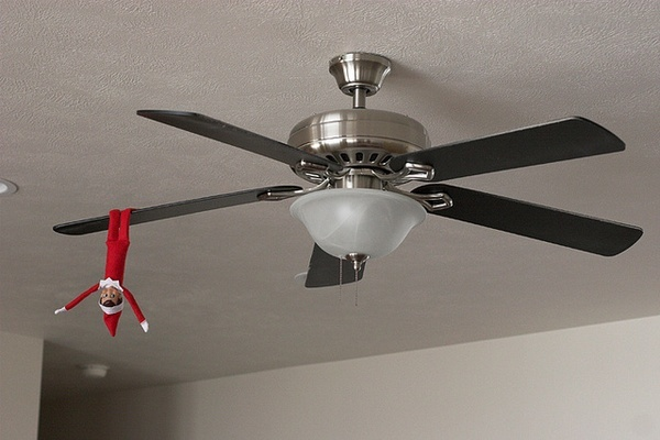 elf on fan elf-on-the-shelf