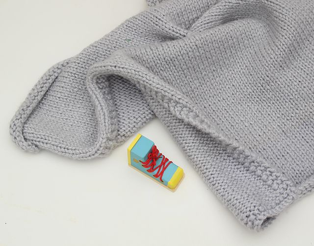 Knit Chunky Baby Blanket with shoe Knitting Pinterest