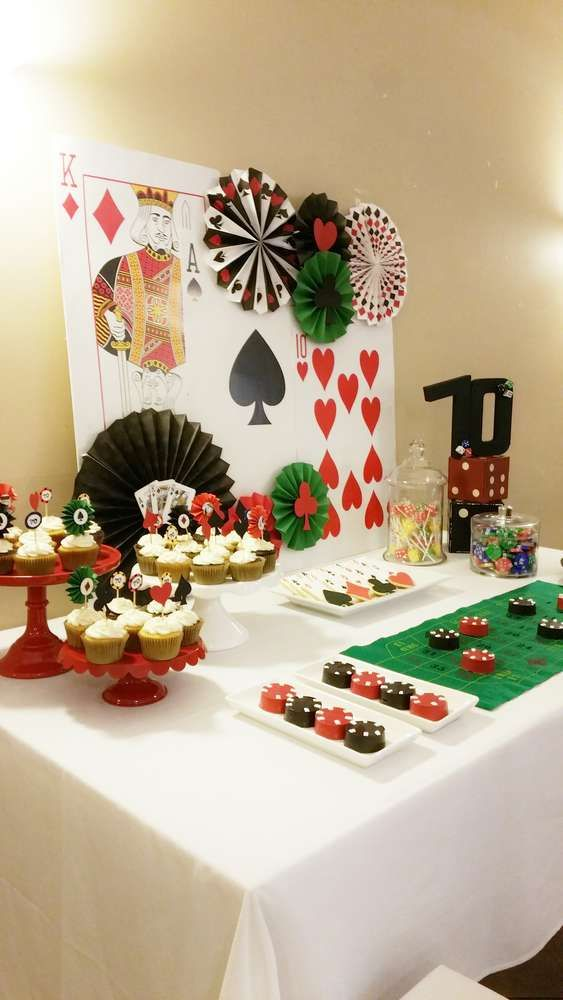 Las Vegas 70th birthday party! See more party ideas at CatchMyParty.com!