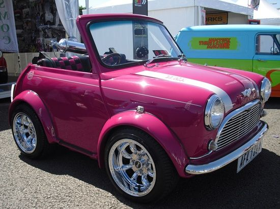 Girly Cars & Pink Cars Every Women Will Love!: The mini Mini cooper (PINK) - i want one!