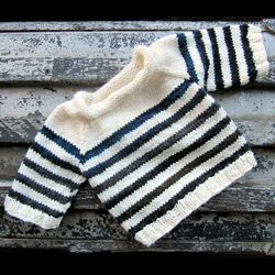 French Sailor Striped Baby Sweater