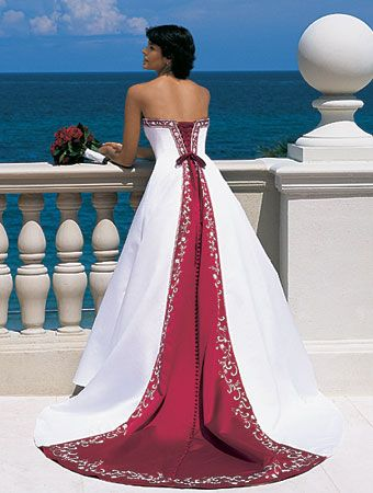 wedding dresses with color trim - UP2WEDDING wedding dresses factory