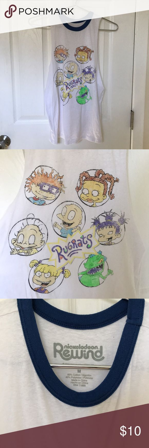 Rugrats vintage tank top nickelodeon muscle tee This was maybe worn once or twice. Vintage style rugrats tank top or muscle tee. Size M. 💜MAKE AN OFFER💜  ⭐️ FOR LOWER ITEM PRICES AND SHIPPING PRICES BUY ON MY MERCARI! (shop.sherri) ⭐️  tags: American eagle, AEO, VS pink, Victoria's Secret pink, PINK, ugg, birkenstocks, bath and body works, B&BW, Hollister, urban outfitters, Alex and Ani, Michael kors, Vera Bradley, lululemon, coach, Nike, adidas, Mac, Kylie cosmetics, Morphe, urban decay…