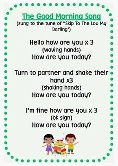 Morning-routine-song-posters-786237 Teaching Resources - TeachersPayTeachers.com