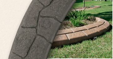 landscape curbing styles shapes