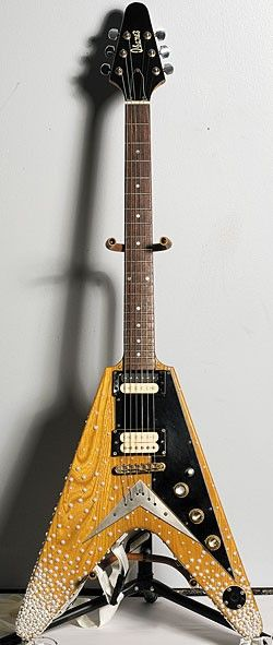 """Ibanez Rocket Roll Model 2387 Mid-'70s - Paul Gilbert's """"Lawsuit era"""" with white pearls, known as """"Glam From The Sea"""""""