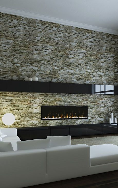 Dimplex XLF50 linear electric #fireplace with Multi-fire LED effects.