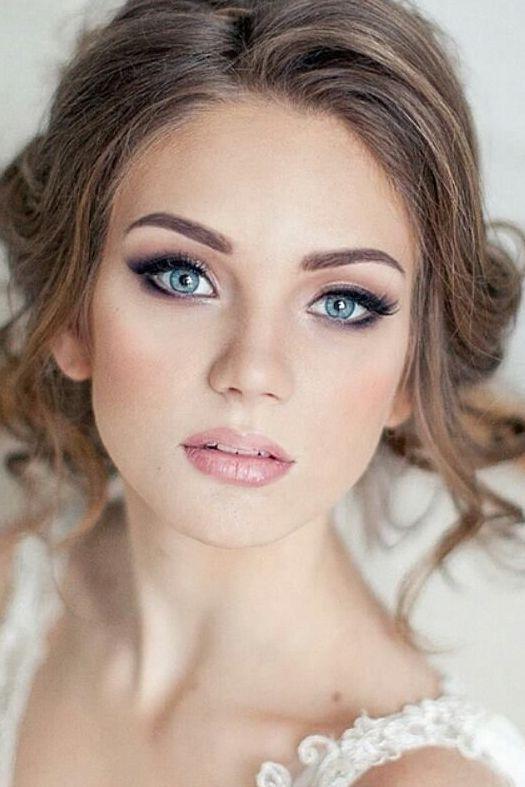 Brautmakeup Erstaunliches Make Up Und Schone Blaue Augen Hochzeit Hochzeiten Braut Makeup Augen Make Up Braut Makeup Fur Blaue Augen Blaue Augen