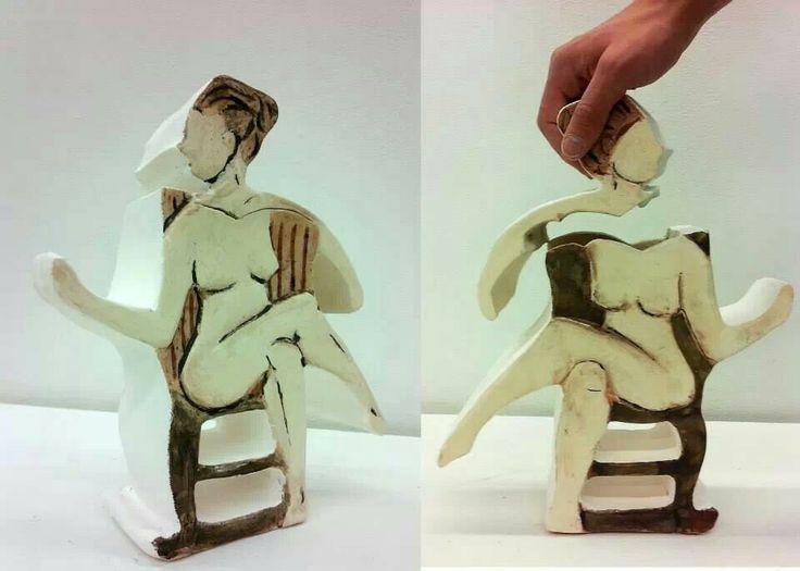 Female condom box. Earthenware ^04