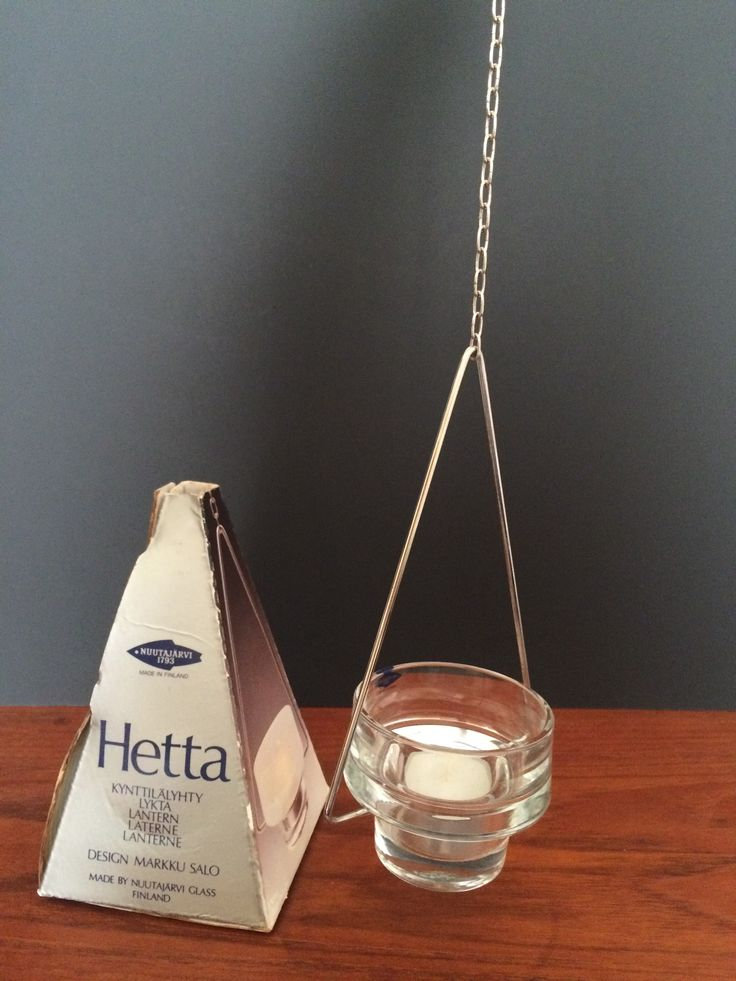 Hetta Hanging TL Candle Holder in original box Nuutjarvi Finland