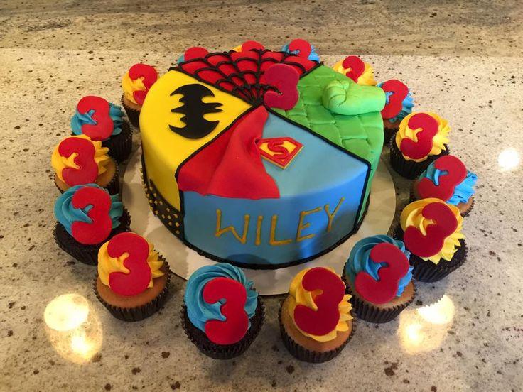Cute Super Hero Cake