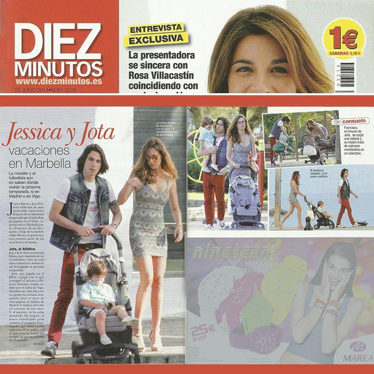Jota Peleteiro y Jessica Bueno de paseo por Marbella con el hijo de ella en la #PEPP de @nunaspain.  Revista Diez Minutos