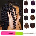 Wand Curl Crochet Hair Extensions Ombre Havana Mambo Twist Braiding Hair 8'' 20s