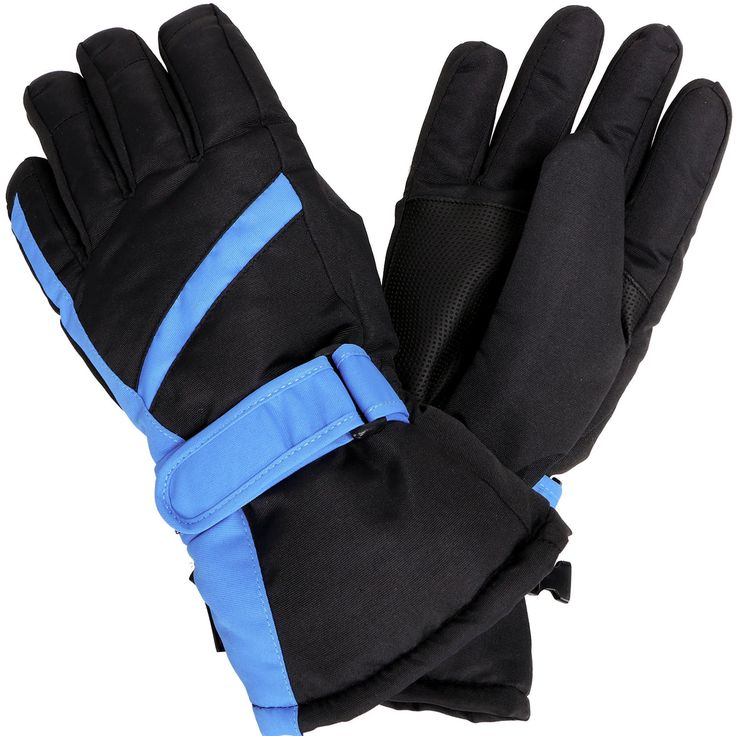 Women's 3M Thinsulate Waterproof Gloves, Black/Blue