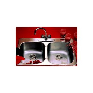 Home Plumber double drop-in sink.  160$ at Home Hardware.