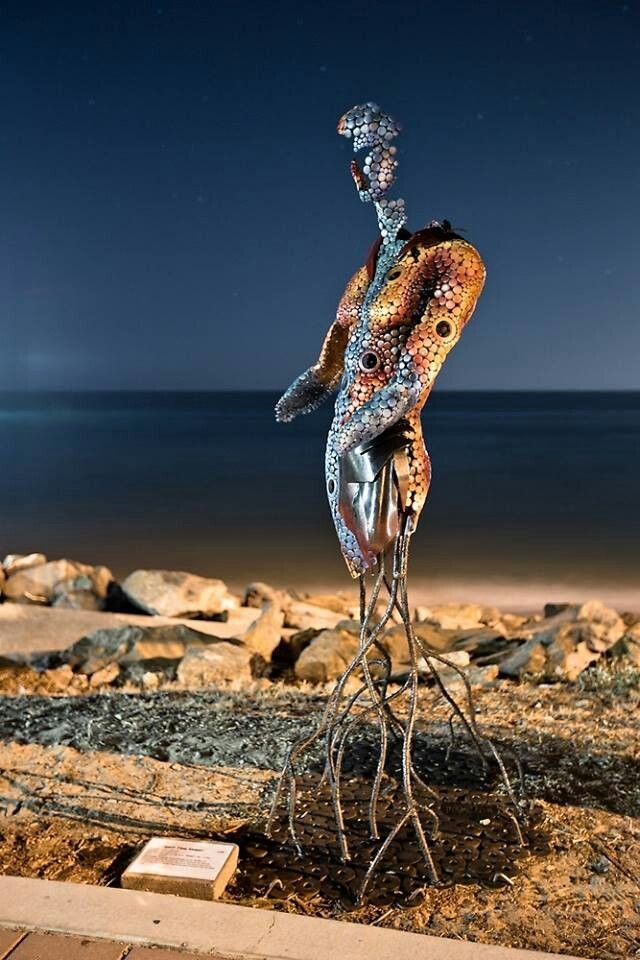 Spirit Time Keeper metal sculpture by Marc Spurgin