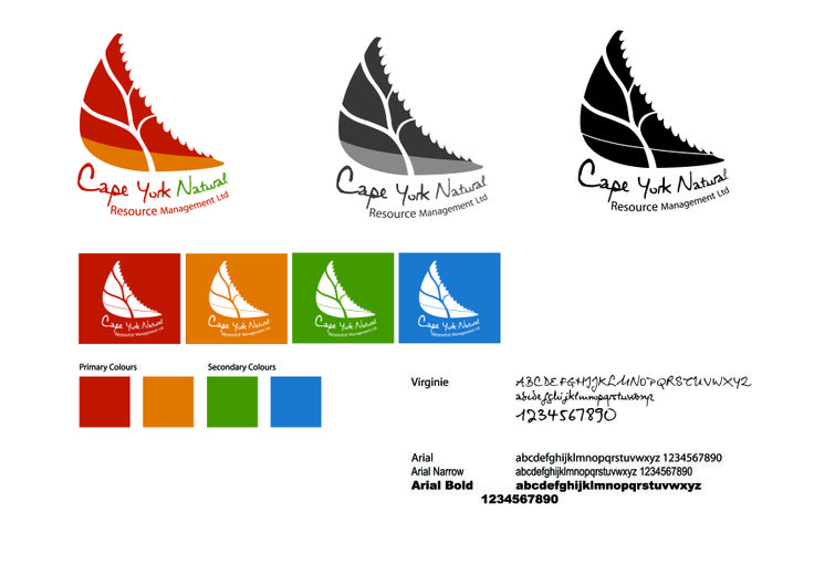 Cape York Natural Resource Management brand. Designed to represent Cape York through colours and style
