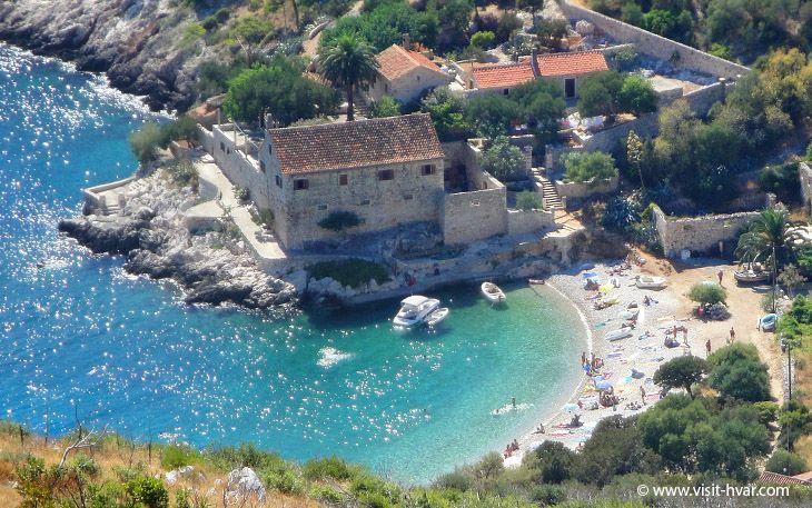 Baia Dubovica spiaggia, Spiagge di Hvar - Isola Hvar, Croazia