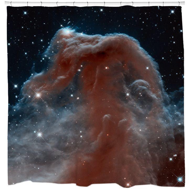 Infrared Horsehead Nebula Shower Curtain