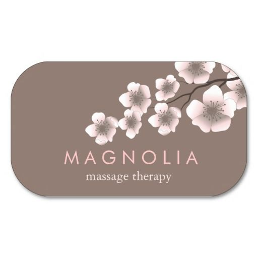 213 best design consultant business cards images on pinterest elegant blossom pink chic zen business card reheart Gallery