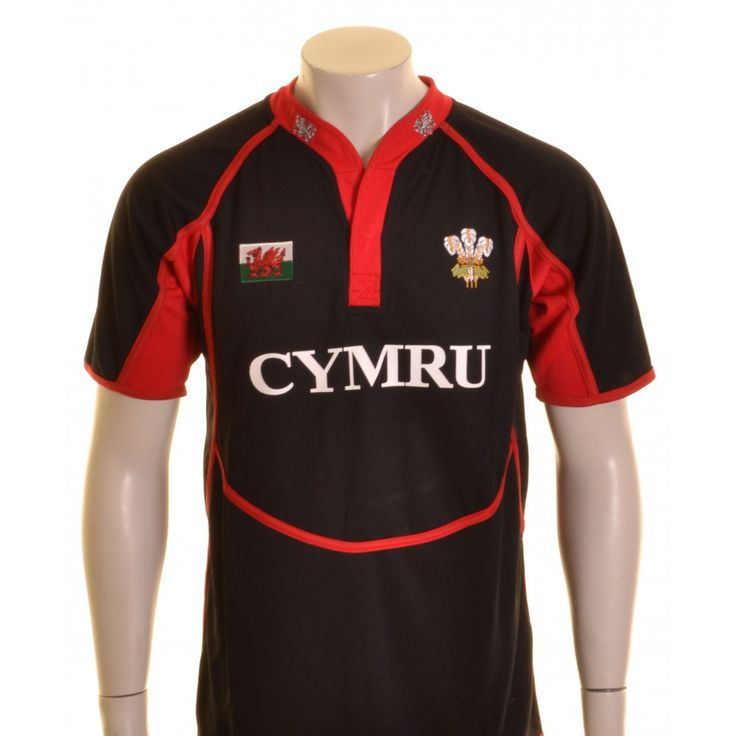 Manav Wales Rugby Shirt Black, Red and White - £25.00 at ShopRugby.com #Rugby #WRU #WalesRugby