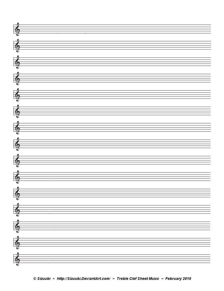 Treble Clef Sheet Music Lexutk