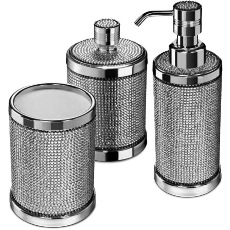 Starlight Bathroom Accessories Set W, Modern Bathroom Accessory Sets