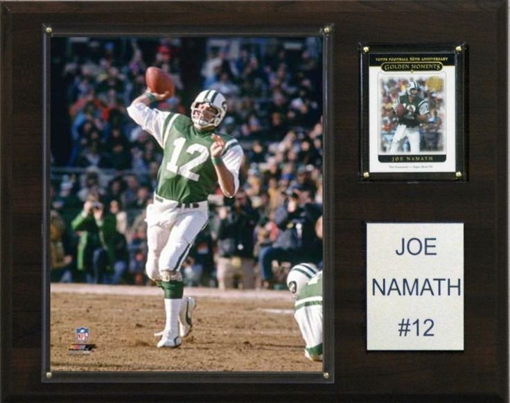 "New York Jets Plaque - Joe Namath 12""x15"" Player"