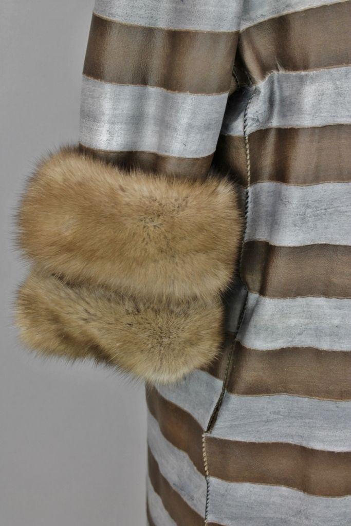 ELLIKER Reversible hand painted Sable coat