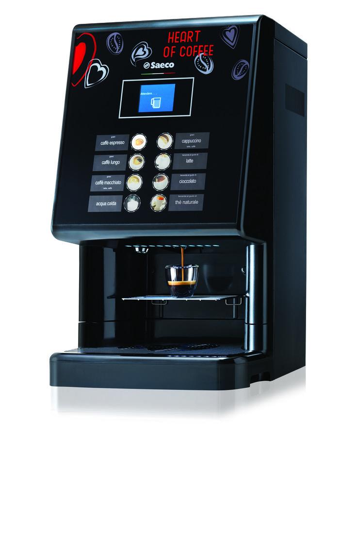 Wysoce wydajny ekspres Saeco Phedra Evo Espresso z podłączeniem do wody. Idealny do prestiżowego biura i punktów samodzielnej obsługi takich jak hotele, sale konferencyjne, przestrzenie open space.