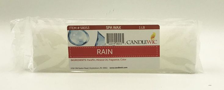 Relax Thermal Therapy Quick Heat Paraffin Bath Wax Refill Rain Hot Spa Brand NEW #Candlewic