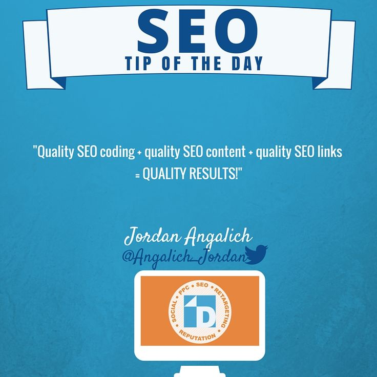 #SEO Tips that will create #QualityResults. Thanks, Jordan!