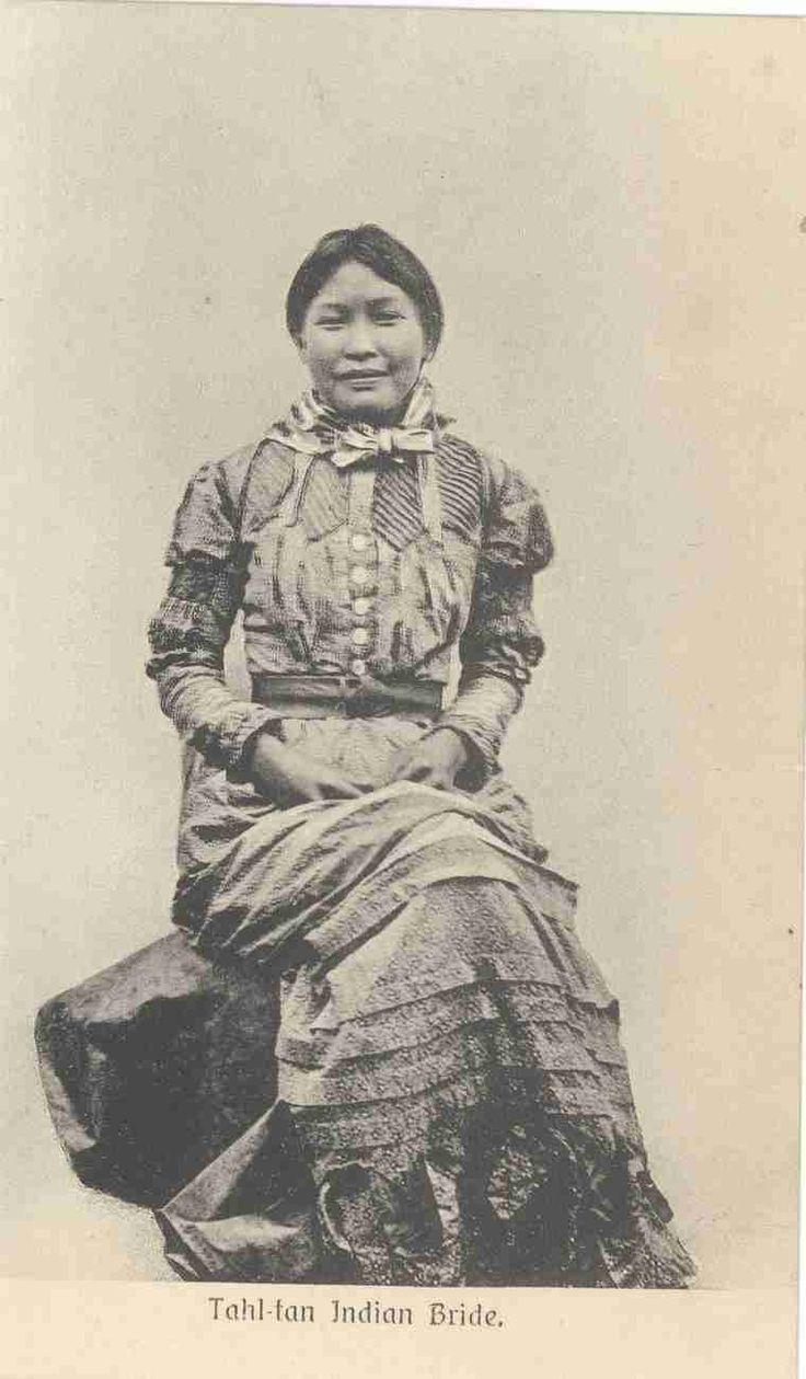 """an """"indian bride"""" from the Tahltan."""